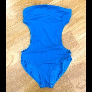 American Apparel turquoise bodysuit/swimsuit